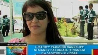 BP: Umano'y pagiging bankrupt ni Manny Pacquiao, itinanggi ng asawang si Jinkee