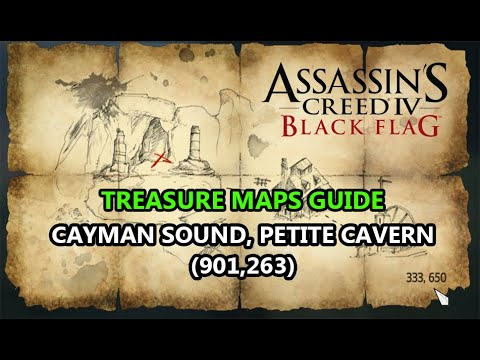 Assassin's Creed IV: Black Flag: Treasure maps: Cayman Sound: 901,263 --) Petite Cavern