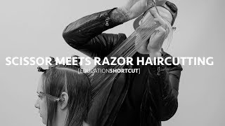 Scissor Meets Razor Creating a Long Layered Haircut | Education Shortcut #003