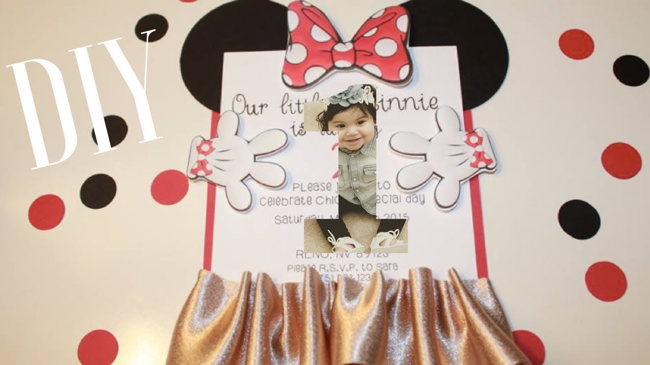 DIY MINNIE MOUSE BIRTHDAY INVITATIONS