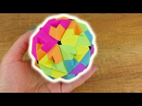 Origami DIY Idee | Regenbogen Ball als Deko & Geschenk | Sonobe Origami Idee