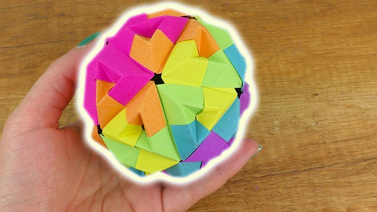 origami diy idee regenbogen ball als deko geschenk sonobe origami idee youtube. Black Bedroom Furniture Sets. Home Design Ideas