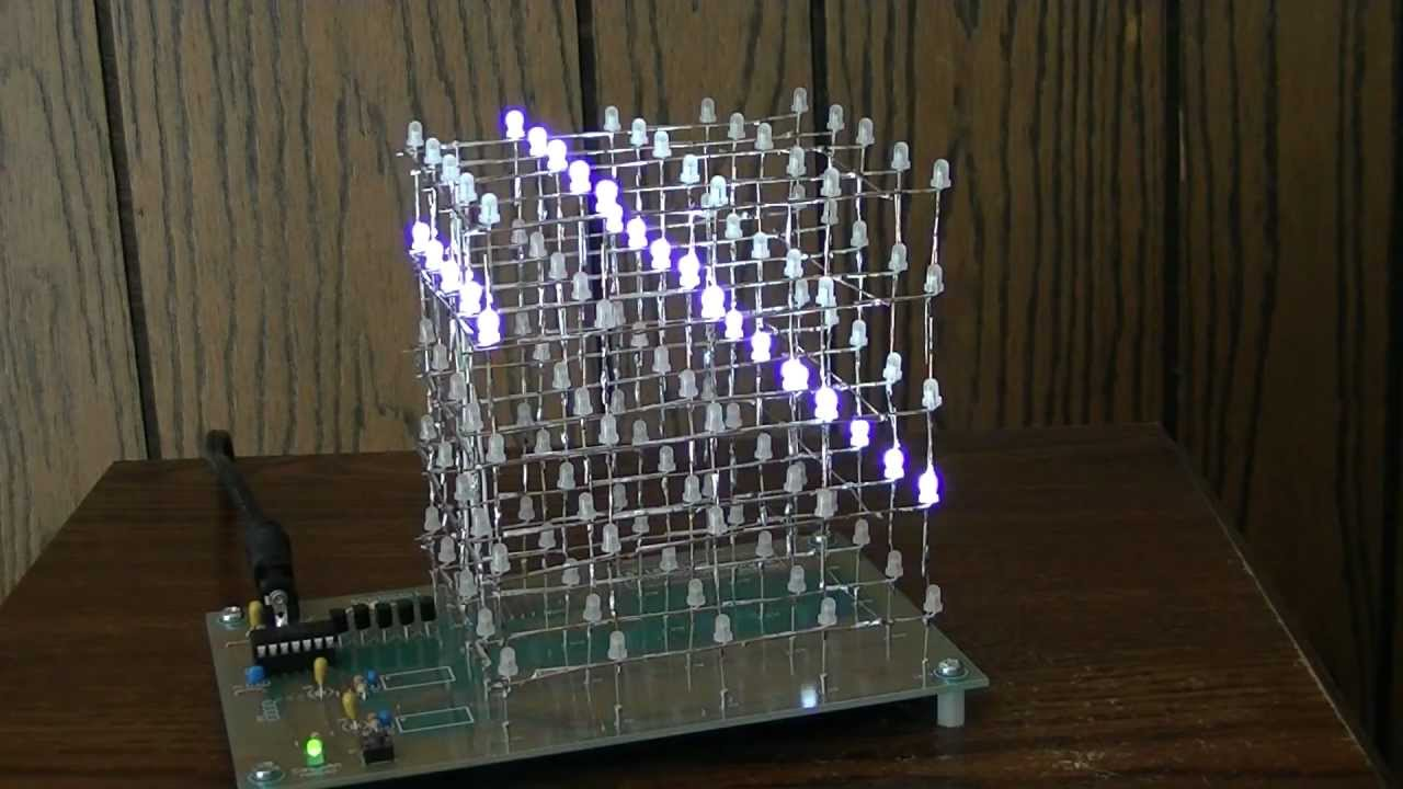Construction of a 5x5x5 LED Cube on