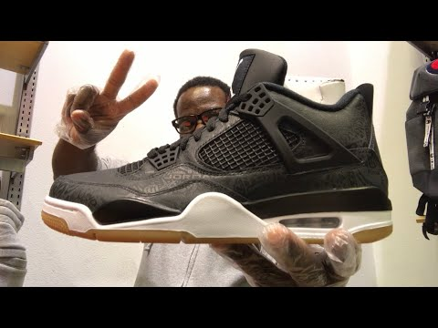 c39c6b4ba5f8 HE HATED ON MY YOUTUBE VIDEO  EARLY BLACK LASER JORDAN 4 REVIEW ...