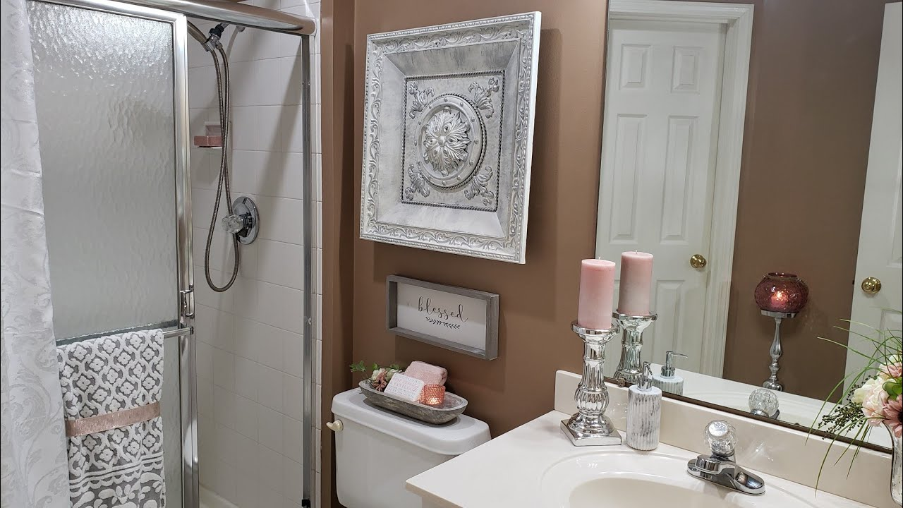 Decorate With Me Small Bathroom Refresh How To Brighten A
