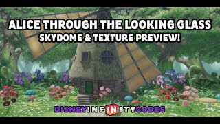 First Look: Alice Through The Looking Glass Skydome & Texture Set - Disney Infinity 3.0 Toy Box