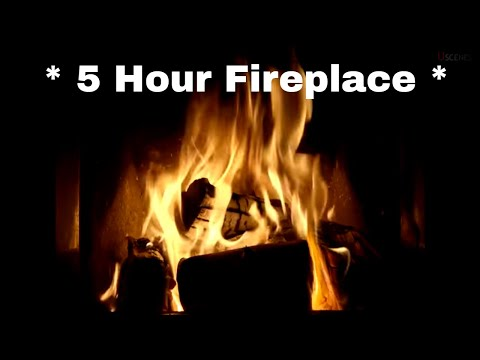 5 Hour Fireplace  in   - Filmed in 4K Ultra  🔥