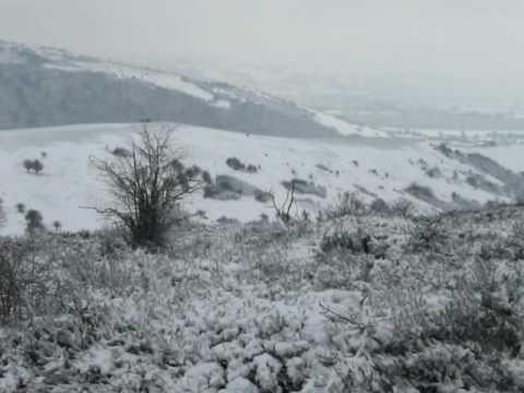 Mendip Hills in the snow