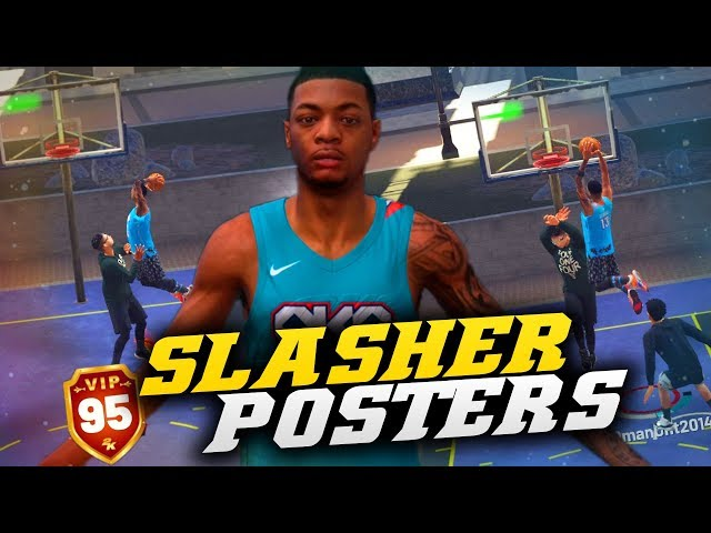 Pure Slasher Contact Dunks Pure Stretch Twice! NBA 2K19 Park Gameplay