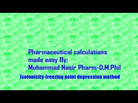 Pharmaceutical Calculations 4b-Isotonicity|By Muhammad Nasir Pharmacist