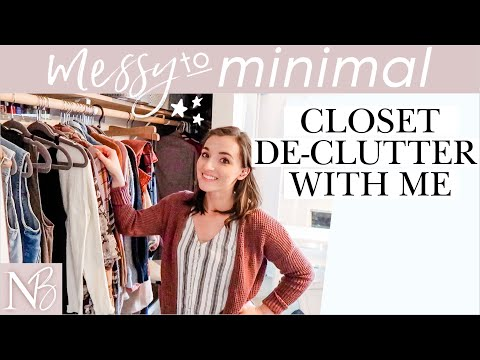 GETTING RID OF HALF OF MY CLOTHING! | Messy To Minimal Ep. 4 | SMALL CLOSET TOUR + SPRING CLEANING