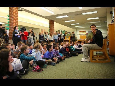UNC Men's Basketball: Marcus Paige reads at Rashkis elementary school