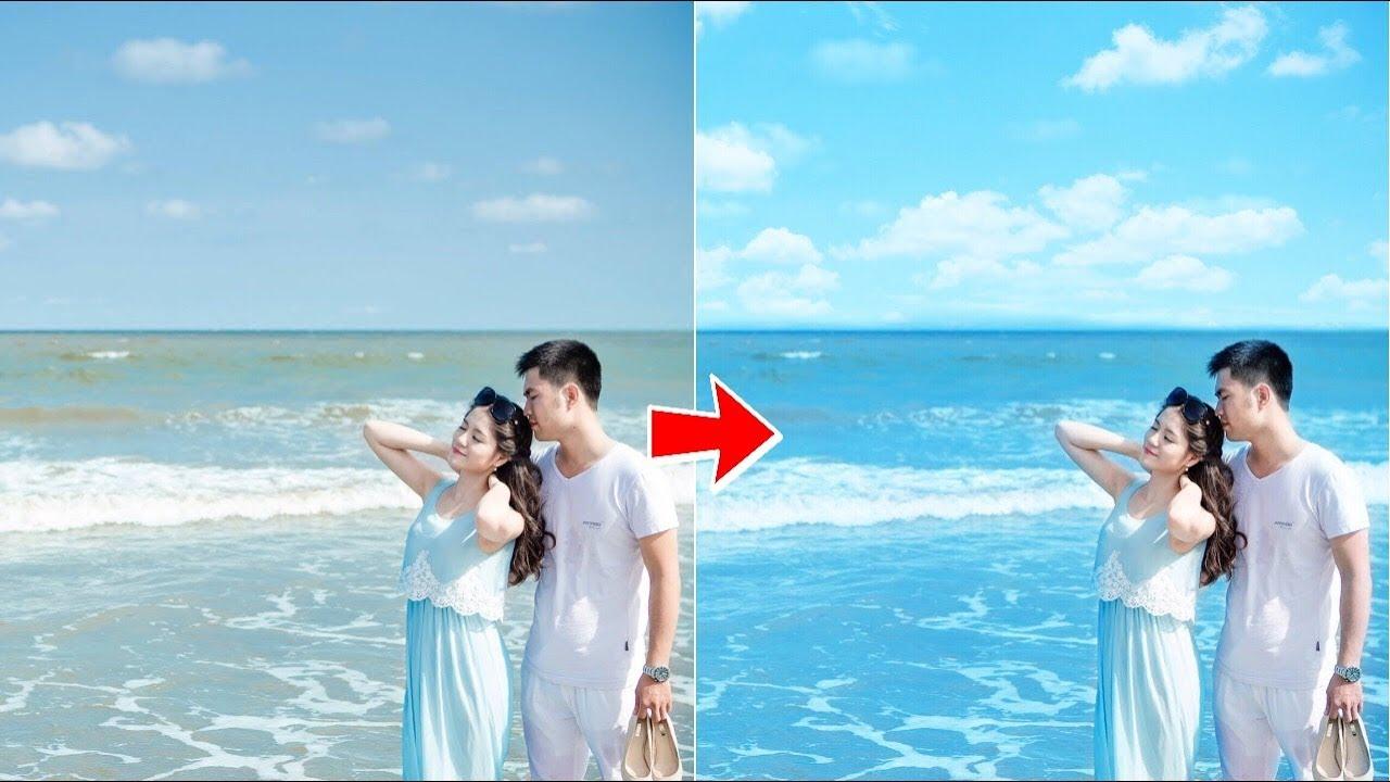 【 PicsArt 】Hướng dẫn làm xanh nước biển và ghép mây bằng Điện Thoại | PicsArt editing ❤️