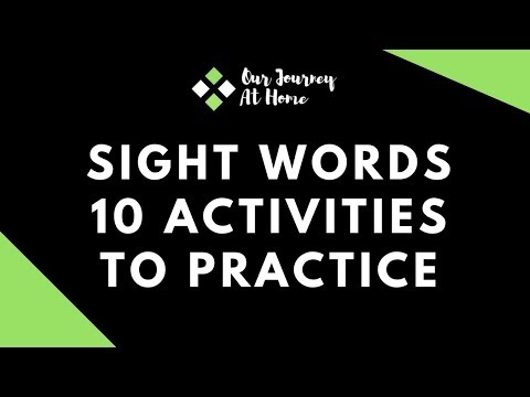 10 Activities to teach Sight Words to toddlers and preschoolers   Our Journey At Home