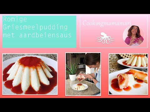 Volle romige griesmeelpudding