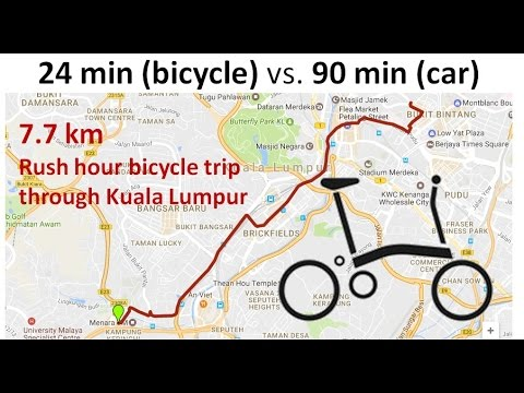 Brompton Bicycle Commute 3-4 Times Faster Than By Car!