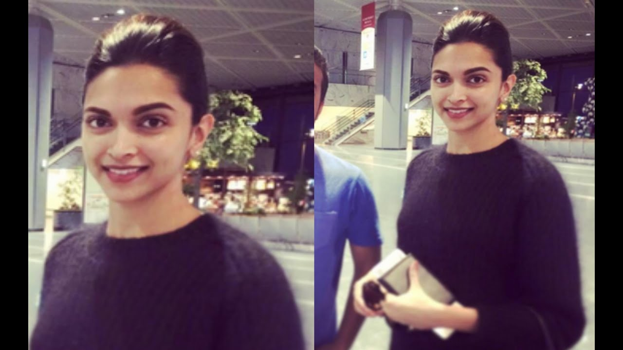 Deepika Padukone Spotted Without Makeup - YouTube