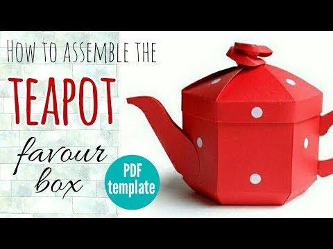 How to Assemble the Teapot Favour Box