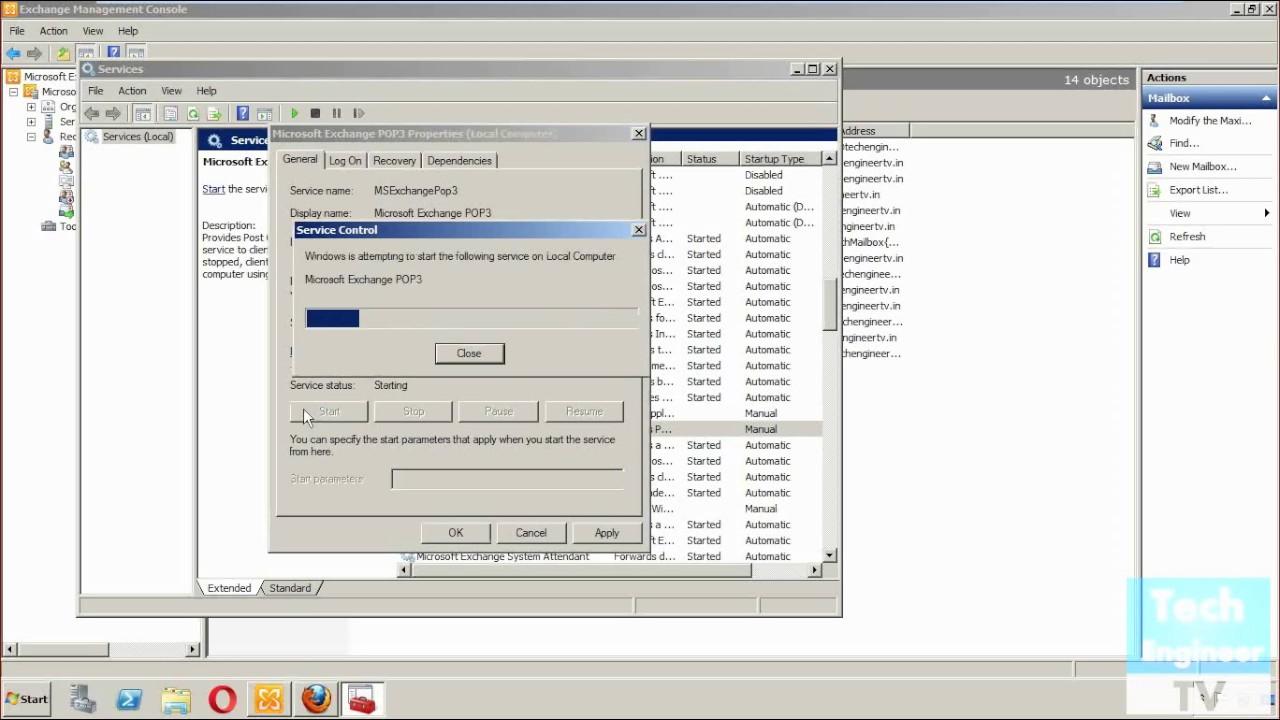 Configure POP 3 and IMAP 4 in Exchange Server 2010