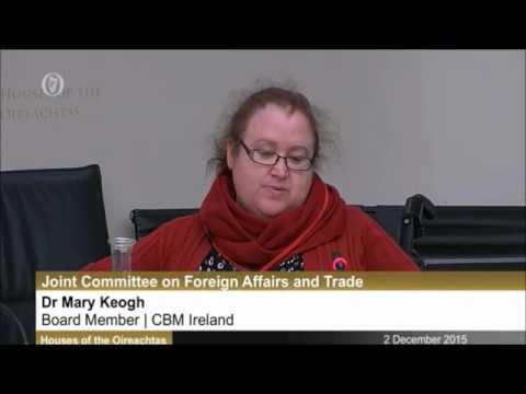 CBM Ireland meet Foreign Affairs & Trade Committee