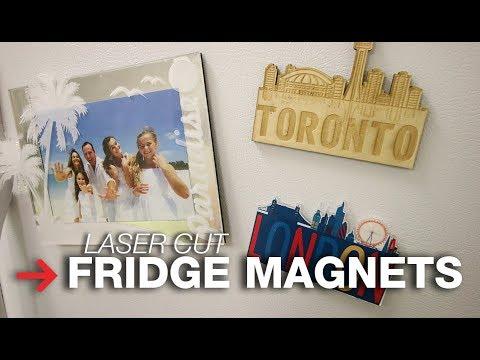 DIY Fridge Magnets | Laser Cut Fridge Magnets | Trotec