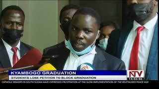 Kyambogo students lose petition to block graduation