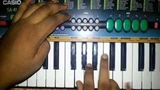 Aaj gokulat rang khelto hari song on piano