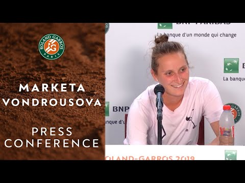 Marketa Vondrousova - Press Conference after Quarterfinals | Roland-Garros 2019