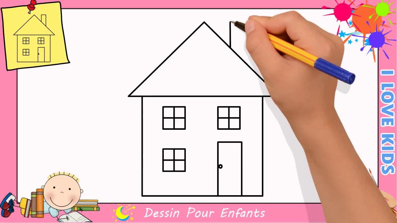 Dessin maison facile etape par etape comment dessiner une maison 5 youtube - Image maison dessin ...