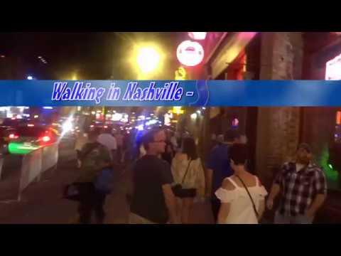 Walking in Nashville/TN - Honky Tonk Row Summer 2017