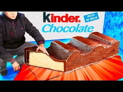 МЫ ПРИГОТОВИЛИ ОГРОМНЫЙ Kinder chocolate ВЕСОМ В 100 КИЛОГРАММ - Видео онлайн