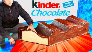WE PREPARED A HUGE KINDER CHOCOLATE WEIGHING 100 KILOGRAMS