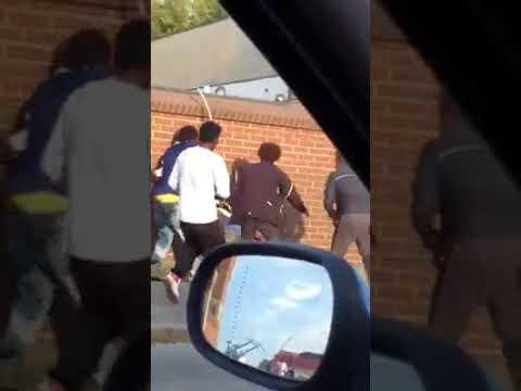 Calais : une habitante filme une rixe très violente entre migrants