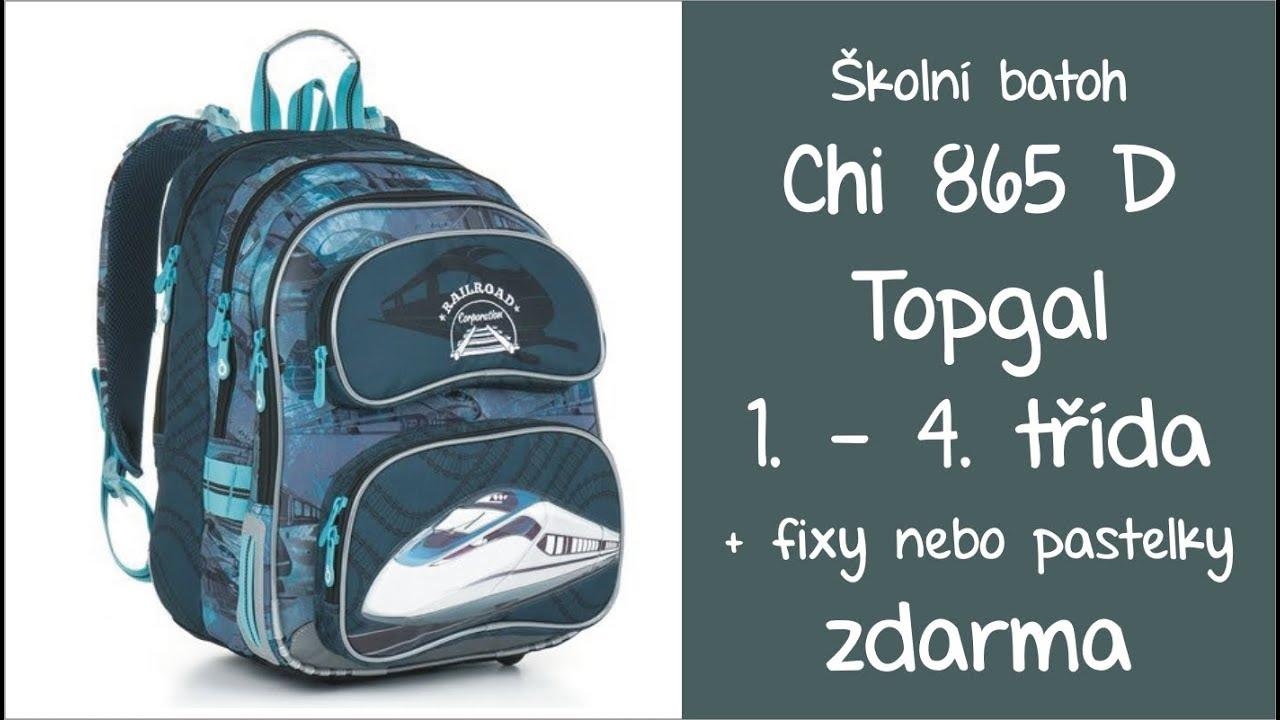 9d6f1677d49 Topgal CHI 865 D školní batoh pro kluky 1. - 4. třída - YouTube