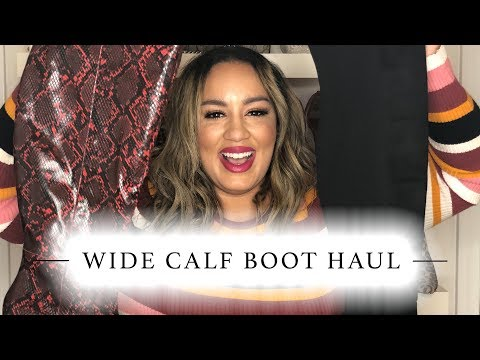Fall/Winter Plus Size Wide Calf Boot Try-On / Haul
