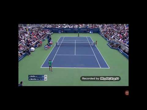 GAEL MONFILS PERFECT SIDESPIN DROP SHOT AGAINST DAVID GOFFIN  US OPEN 2017