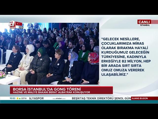 Bakan Albayrak'tan Borsa İstanbul'da önemli açıklamalar