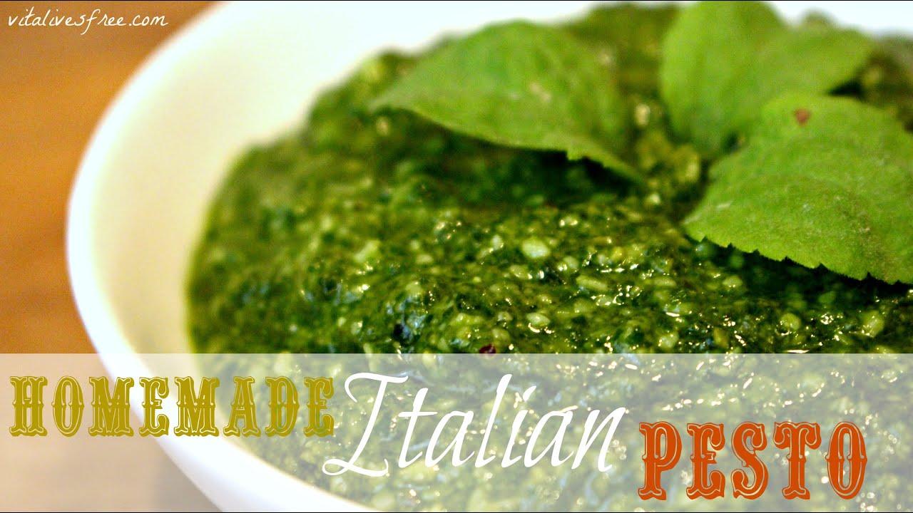 Cooking Italian Pesto Sauce at Home