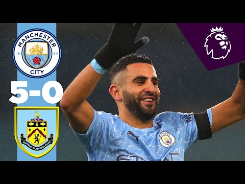 HIGHLIGHTS | CITY 5-0 BURNLEY | MAHREZ HAT-TRICK!
