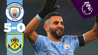 Highlights | Man City 5-0 Burnley | MAHREZ HAT-TRICK!