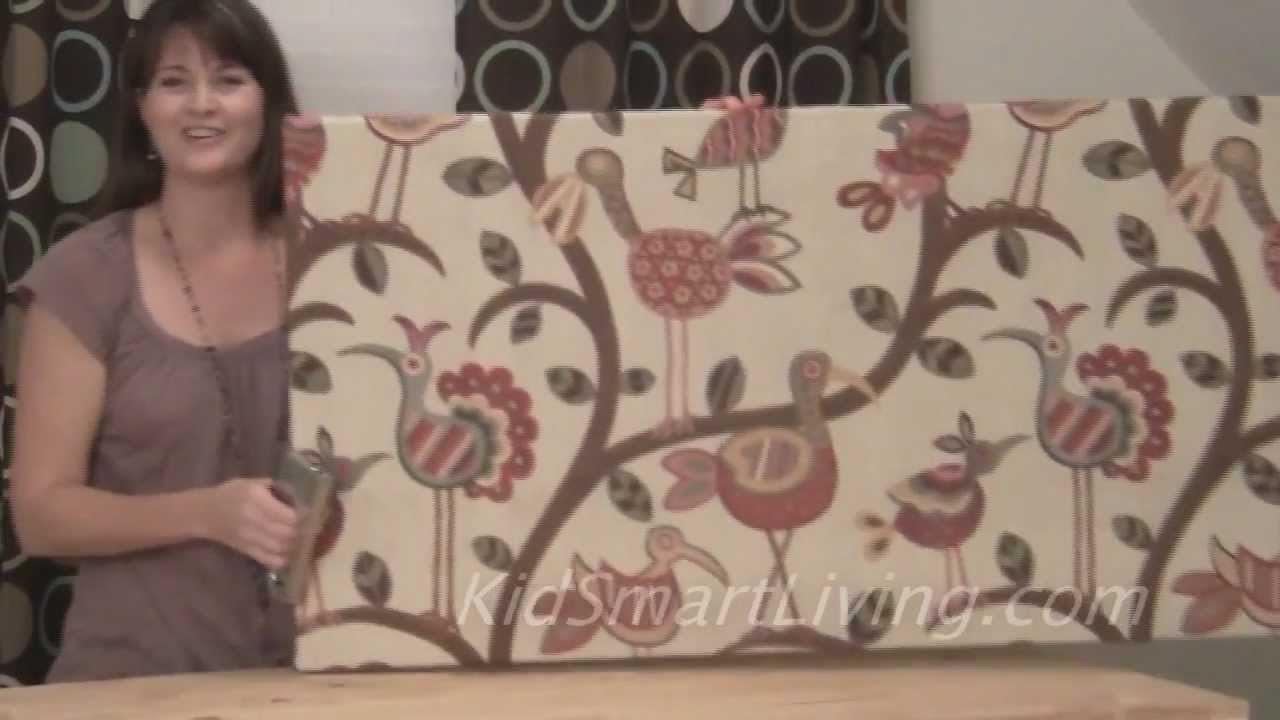 How To Make Fabric Wall Art Panels Home Decorating DIY Project   YouTube