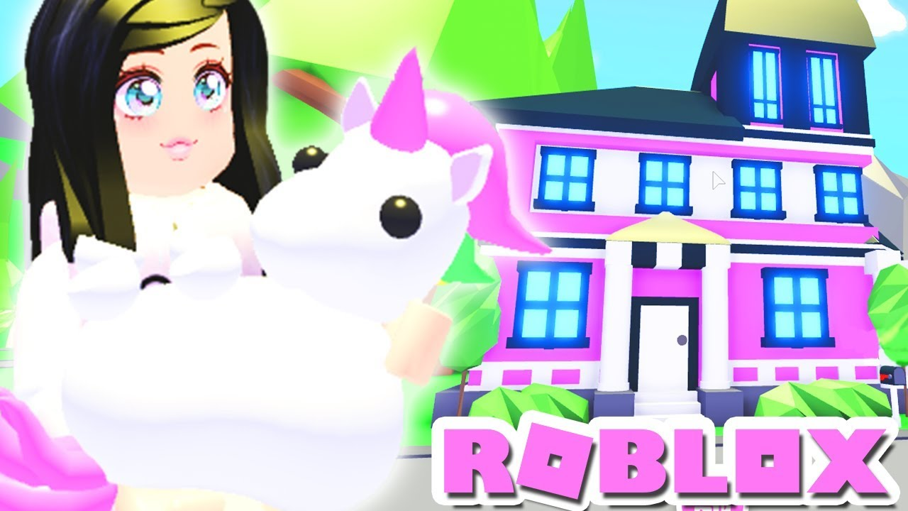 I Bought My Unicorn A Mansion Let S Decorate Adopt Me Roblox Pets Youtube