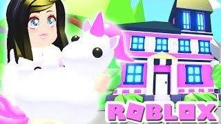I BOUGHT MY UNICORN A MANSION | Let's Decorate ADOPT ME ROBLOX Pets