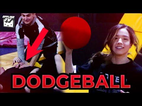 HE GOT KNOCKED OUT! OFFLINETV TRIES DODGEBALL ft. Pokimane LilyPichu DisguisedToast Fedmyster Scarra