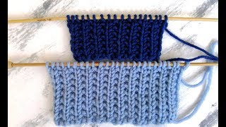 Польская резинка спицами, видео, мастер-класс | Knitting rib