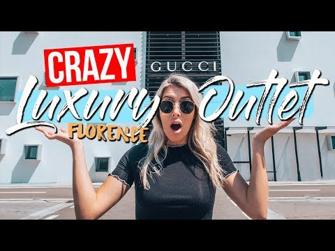 CRAZY LUXURY OUTLET MALL IN FLORENCE ITALY (Gucci Outlet With 50% Off!?)