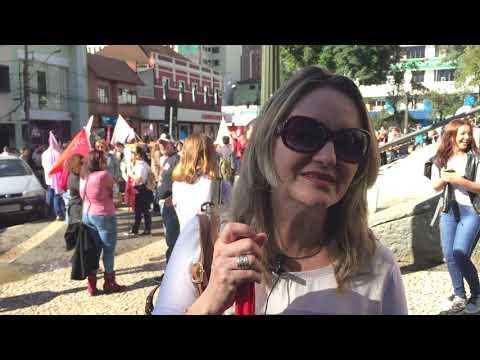 Depoimento da professora Sandra Maria Scheffer, de Serviço Social, da UEPG