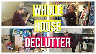 WHOLE HOUSE DECLUTTER! | PURGE WITH ME | 2018