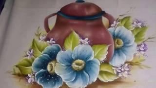 Pintura em tecido – VEJA COMO PINTEI ESSE LINDO RISCO