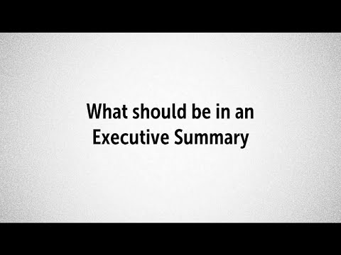 Notes on the Importance of Executive Summary in a Business Plan